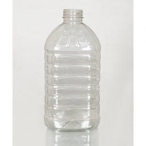 ПЭТ бутылка 5,0 л. 48 мм прозрачная